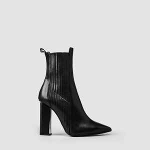 All Saints Cubista Black Heeled Boots